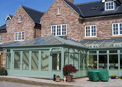 One of our timber conservatories