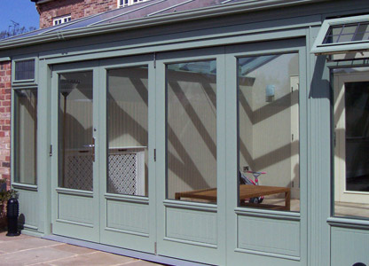Timber bifolding doors