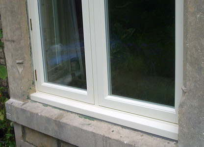 Flush timber casement window