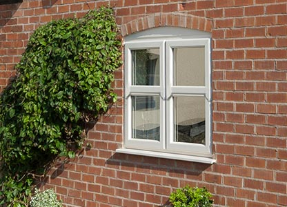 Timber look mock sliding sash window