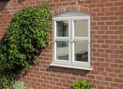Timber look mock sliding sash window