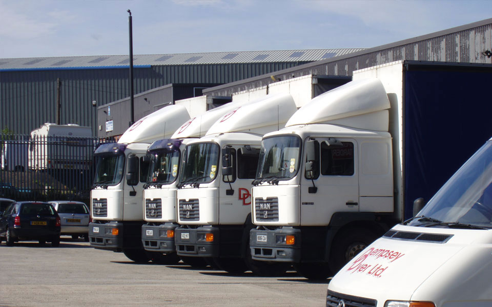 Our delivery vehicle fleet that delivers windows across the nation