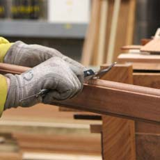 A member of our skilled timber window manufacturing team